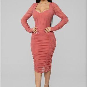 ⭐️NWT Fashion nova don't get sassy mesh midi dress